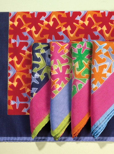 Silk Anchor Pocket Squares