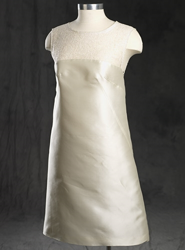 Ladies Sheath Silk White Dress