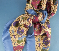 Ladies Silk Animal Printed Scarf