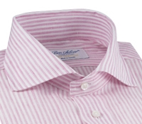 Pink and White Candy Stripe Cutaway Collar