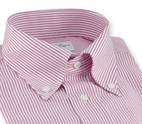 Bengal Stripe Oxford Magenta Shirt