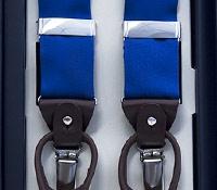 Royal Blue Ribbon Braces