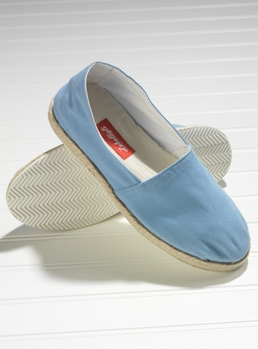 Sky Canvas Espadrilles with Rubber Soles