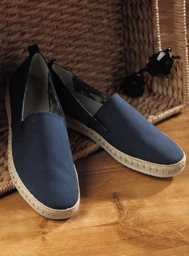 Geox Canvas Espadrilles in Navy