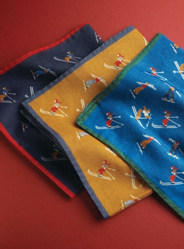 Wool & Silk Skier Pocket Squares