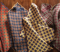 Silk Diamond Printed Pocket Squares