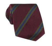 Silk Multi-Stripe Tie in Burgundy