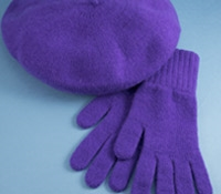 Cashmere Beret in Lilac