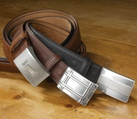 Leather Belts with Buckles