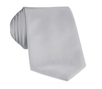 Mogador Silk Solid Signature Tie in Cloud