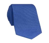 Silk Basketweave Tie in Marine