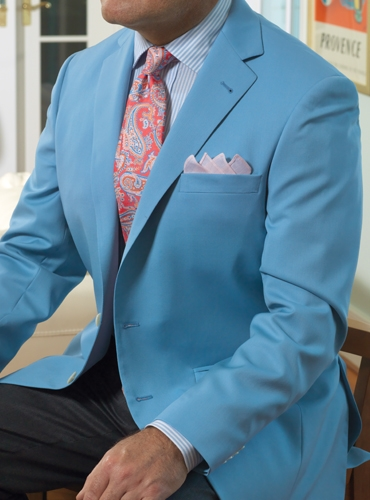 Blue Tropical Wool Sport Coat