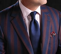 The Henley Style Blazer in Wine and Navy