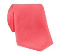 Silk Solid Tie in Coral