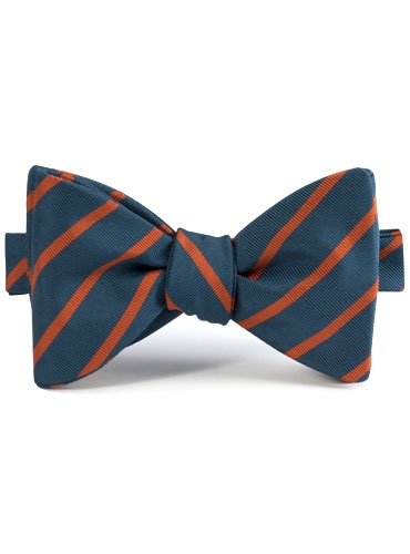 Mogador Bar Stripe Bow in Teal
