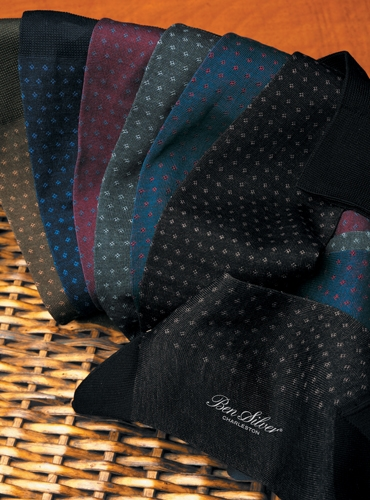 Neat Patterned Cotton Socks