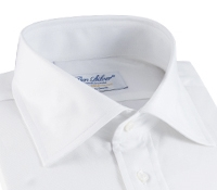 Clasic White Twill Spread Collar with French Cuffs