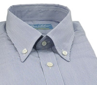 Blue and White Pencil Stripe Shirt