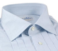 Egyptian Broadcloth Evening Shirt -Blue