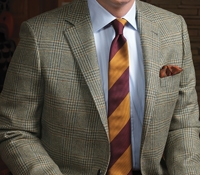 Sage and Teal Glen Plaid Sport Coat in Wool