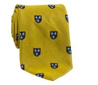 Silk Woven Crest Tie in Gold