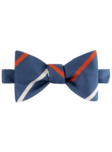 Mogador Double Striped Bow Tie in Marine