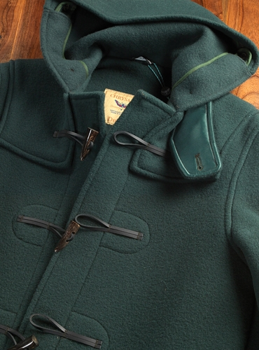 Classic Heavyweight Wool Duffle in Hunter Green