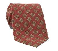 Silk Diamond Motif Tie in Brick