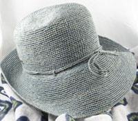 Raffia Hat in Ocean