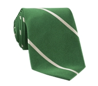 Silk Woven Bar Stripe Tie in Grass