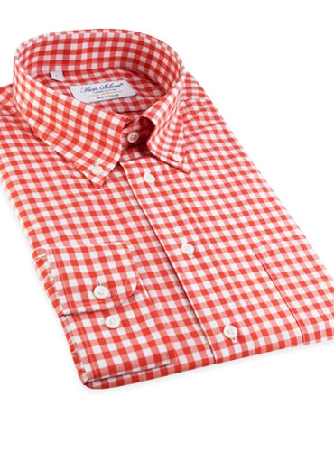Orange Gingham Shirt