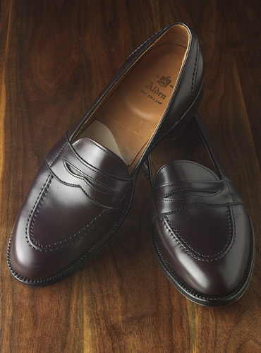 The Alden Full Strap Slip-On Loafer in Burgundy