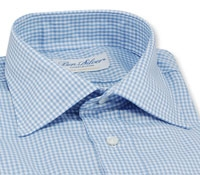 Blue & White Small Grid Check Shirt