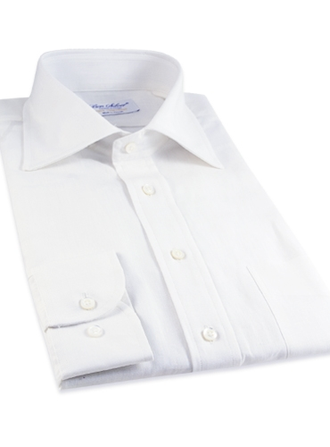 White Linen Spread Collar