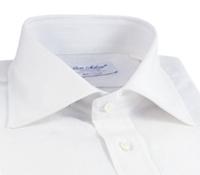 White Linen Spread Collar