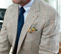 Navy and Sienna Glen Plaid Sport Coat