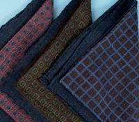 Wool Print Square Patterned Pocket Squares