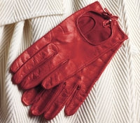Ladies Red Nappa Leather Gloves