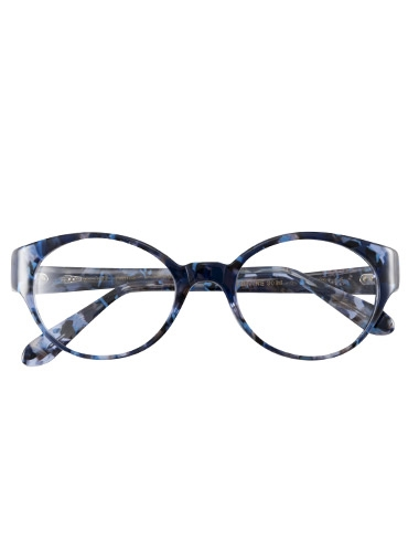Lafont Bold Oval Frames in Blue Tortoise