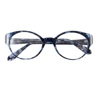 Lafont Bold Oval Frames in Blue Tortoise
