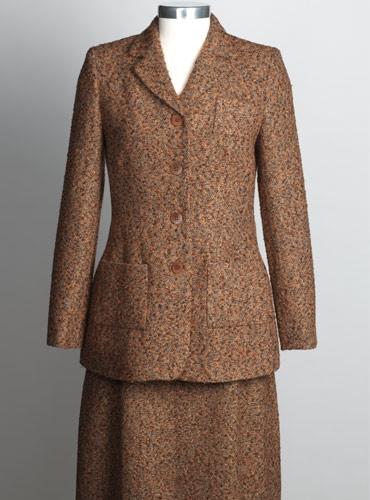 Ladies Tweed Jacket in Orange