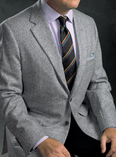 Cloud and Grey Donegal Cashmere Sport Coat