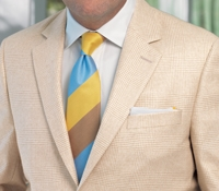 Beige on Cream Glen Plaid Cashmere Sport Coat