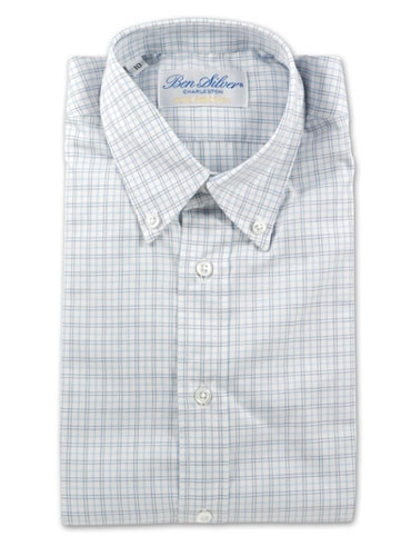 Boys Blue and Navy Grid Shirt