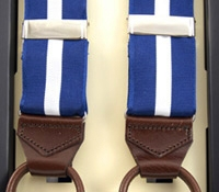 Single Stripe Braces in Royal Blue