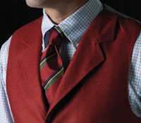 Red Flannel Waistcoat