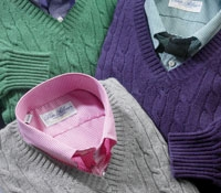 Cashmere Rib and Cable V-neck Sweaters