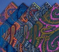Silk Print Paisley Pocket Square