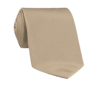 Woven Silk Solid Tie in Sand