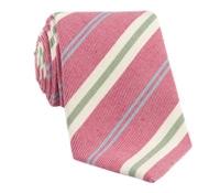 Mogador Stripe Tie in Strawberry